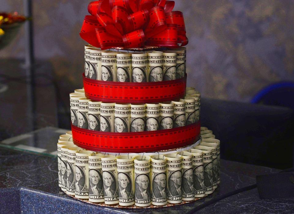 dolarový dort
