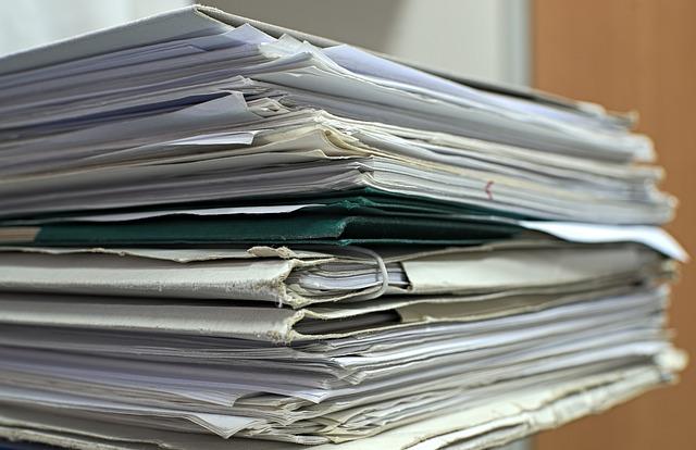 hromada dokumentů