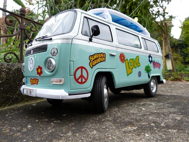 Hippie autobus